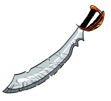 cutlass: Cutlass pirate sword vector illustration for tattoo or t-shirt design