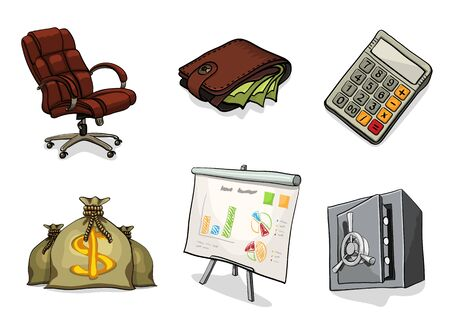 bill board: Business cartoon icons. Vector illustration isolated on white background