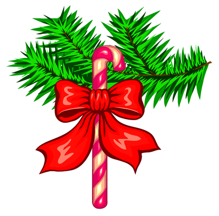 Christmas decoration. Vector illustration isolated on white. Illustration