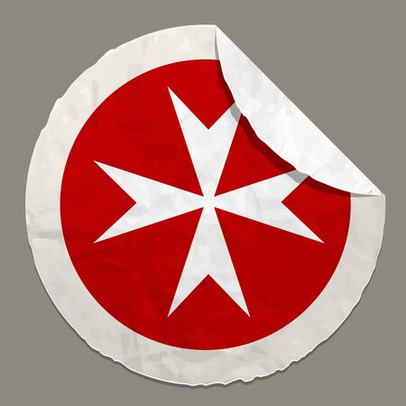 malta: Malta army flag symbol on a paper label