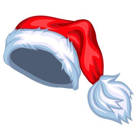 Santa Hat cartoon vector illustration Illustration