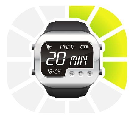 second: digital watch timer 20 minutes