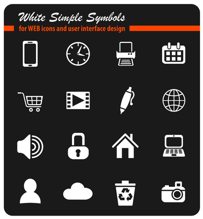 blog web icons for user interface design Illustration