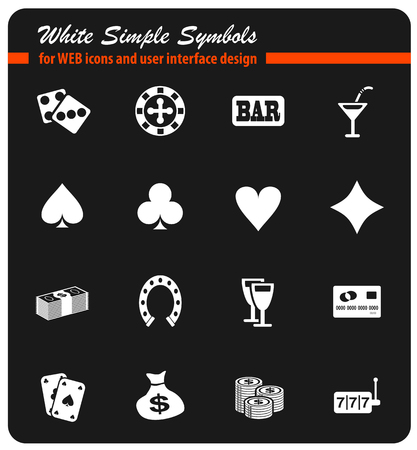 Casino simply symbol for web icons and user interface Illustration
