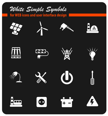electricity icon set Illustration