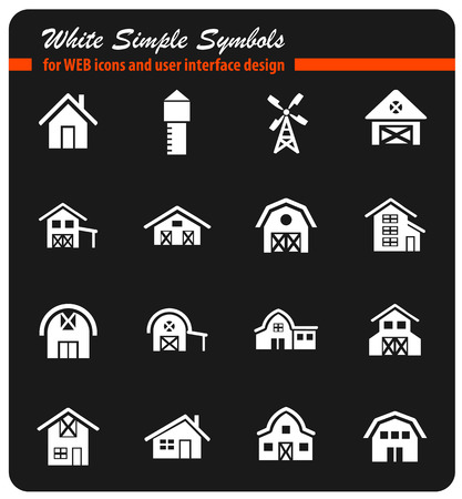 paddock: House building icon set.