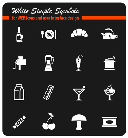 Food and kitchen simply icons.