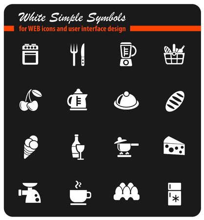 Food and kitchen simply icons Illustration