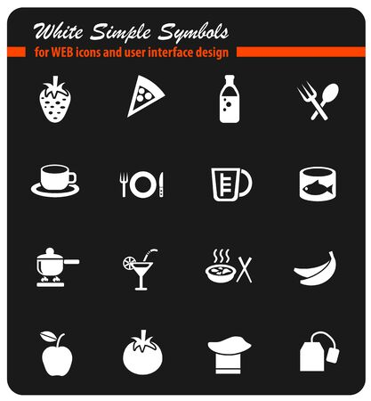 food and kitchen icon set Illustration