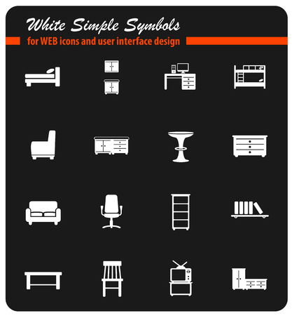 Furniture simply icons Illustration