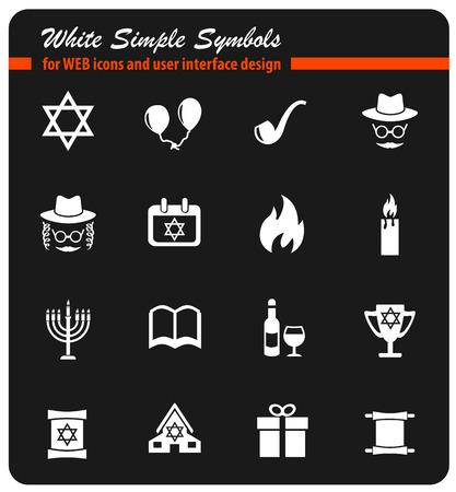 gelt: hanukkah icon set
