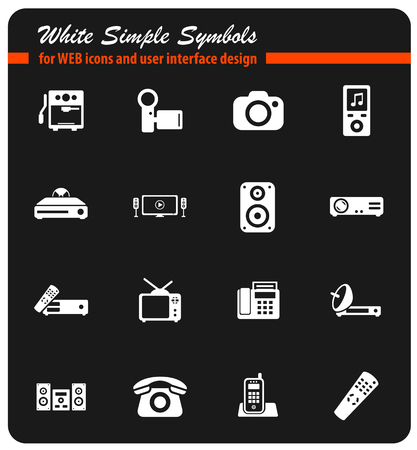 Home applicances simply icons Illustration