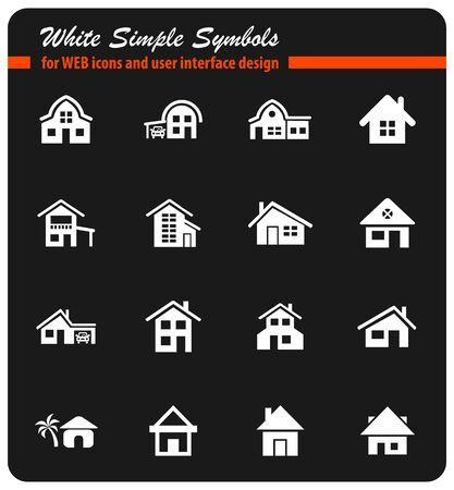 house type icon set Illustration
