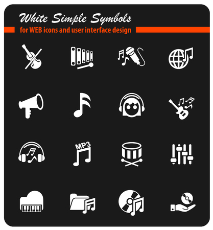 music icon set Illustration
