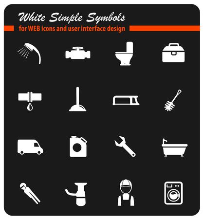 plumbing service icon set