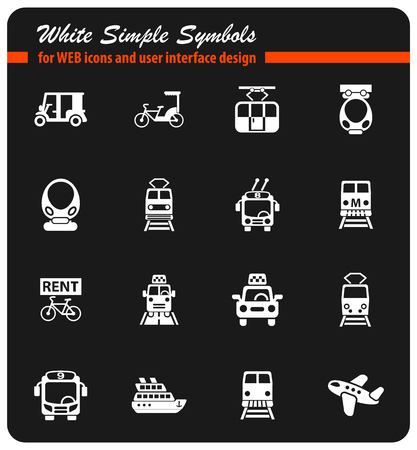 public transport icon set