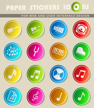 Music simply symbols for web and user interface Illustration