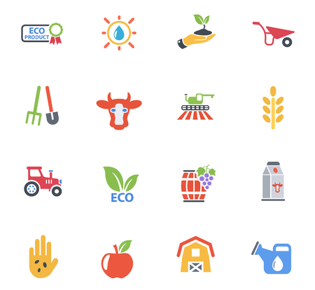 Agricultural web icons for user interface design. Иллюстрация