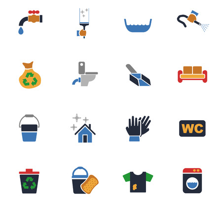 Cleaning institution web icons for user interface design.