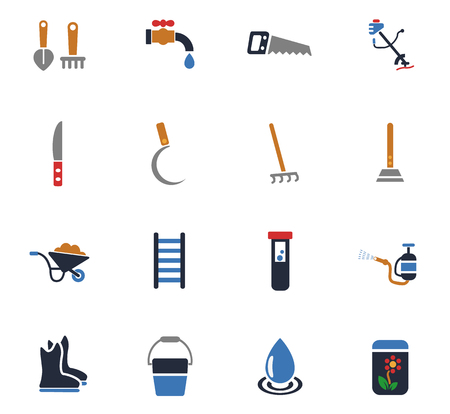 Garden tools web icons for user interface design.