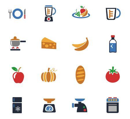 Keuken web iconen voor gebruikersinterfaceontwerp.