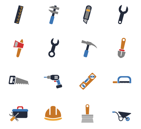 Work tools web icons for user interface design. Иллюстрация