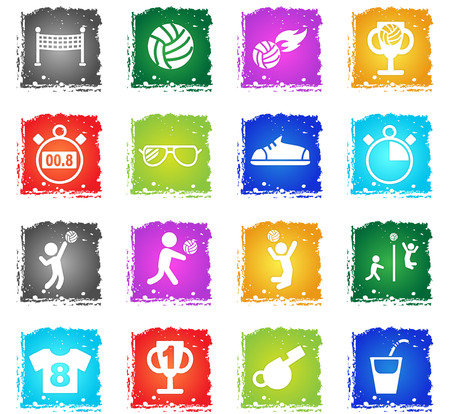 spiel: volleyball web icons for user interface design