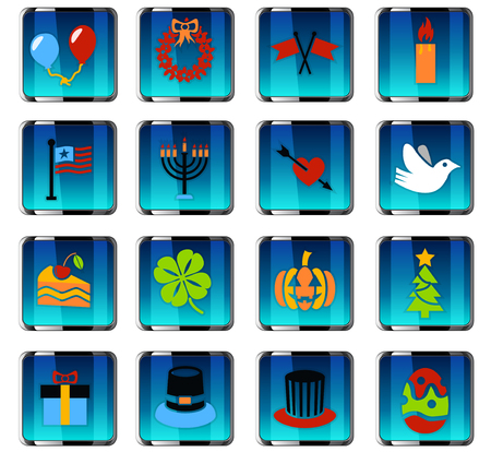 Holidays web icons for user interface design