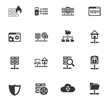 hard drive: Hosting provider web icons for user interface design