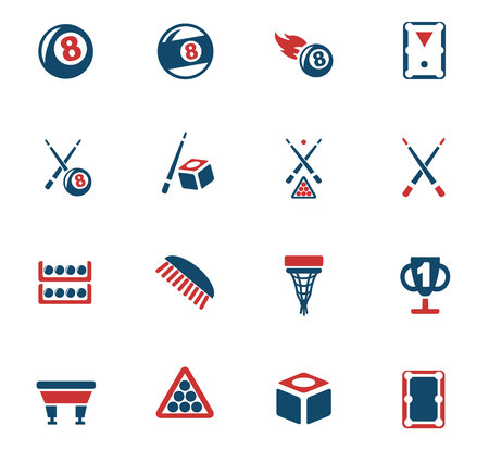 billiards web icons for user interface design