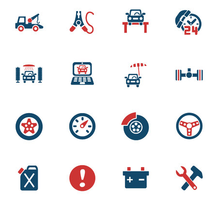car: Car service web icons for user interface design