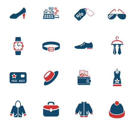 Clothes shop web icons for user interface design Illustration