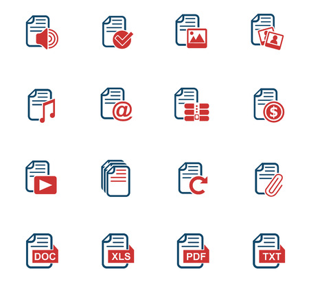 document web icons for user interface design