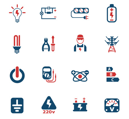 electricity web icons for user interface design Illustration