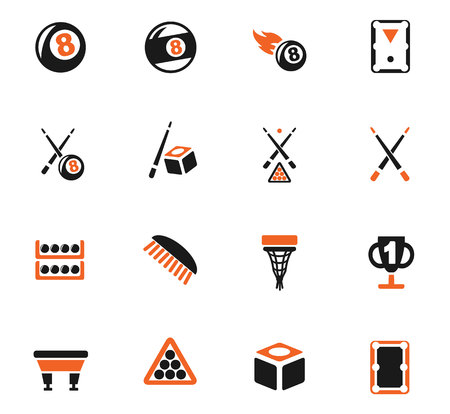 billiards cues: Billiards web icons for user interface design