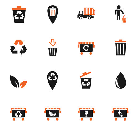 Garbage web icons for user interface design