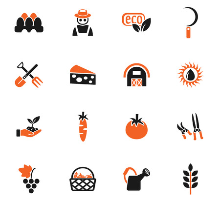 secateurs: agriculture web icons for user interface design Illustration