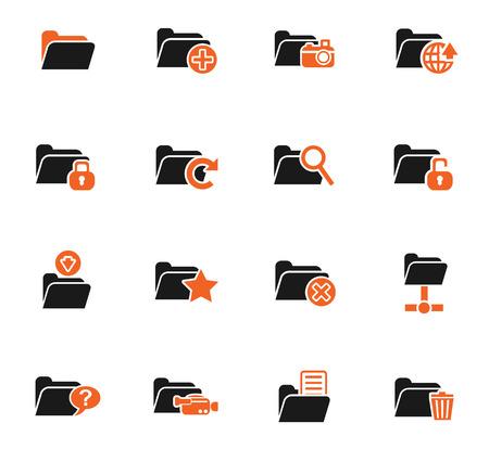 not open: Folder web icons for user interface design