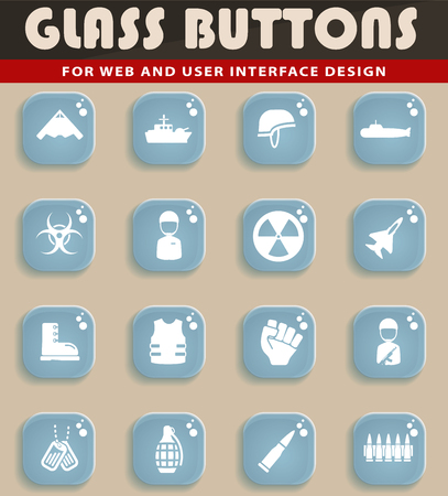 chemical weapon sign: Military simply symbol for web icons and user interface