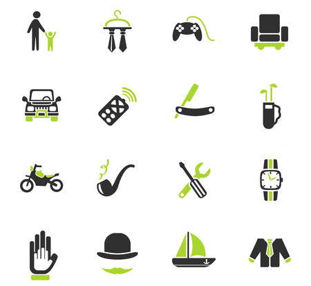 father day web icons for user interface design Illustration