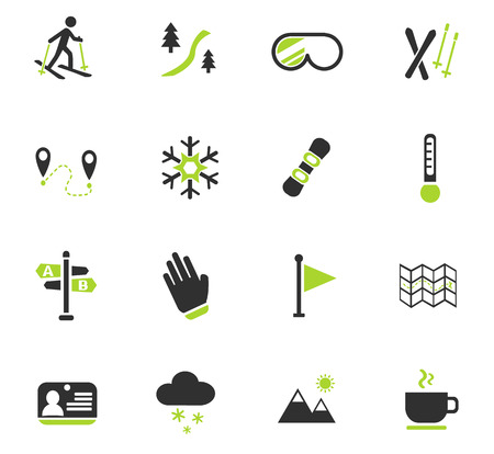 chairlift: skiing web icons for user interface design