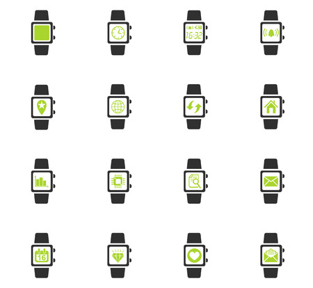 diamond letters: smart watch web icons for user interface design Illustration