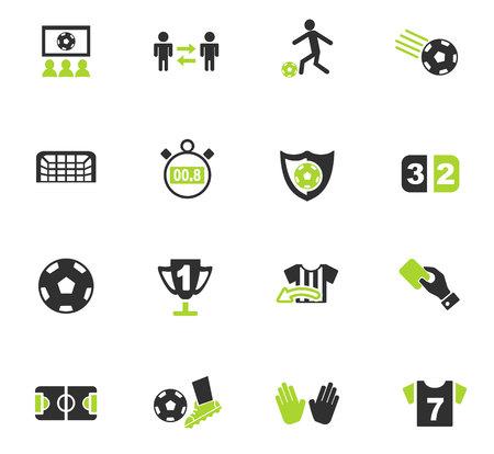 Iconos de web de fútbol para el diseño de interfaz de usuario Ilustración de vector
