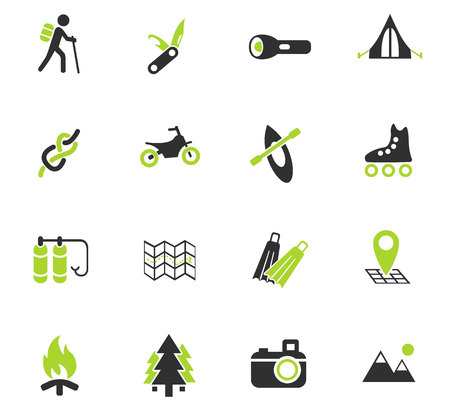 pocket knife: active recreation web icons for user interface design