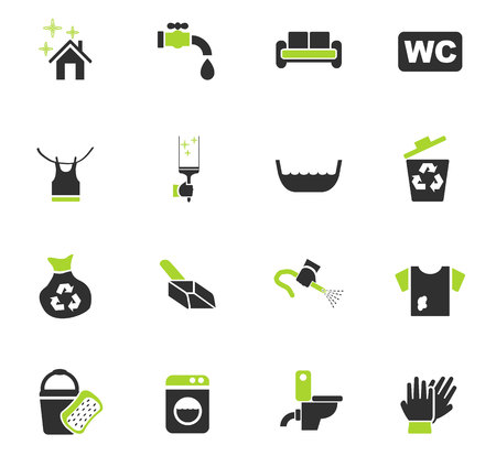 cleaning company web icons for user interface design Vektoros illusztráció