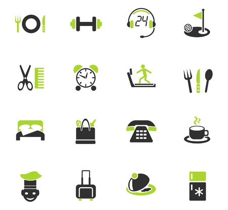 hotel service web icons for user interface design