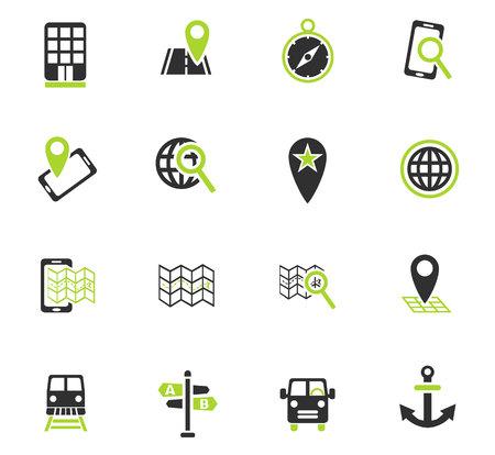 navigation ransport map web icons for user interface design Illustration