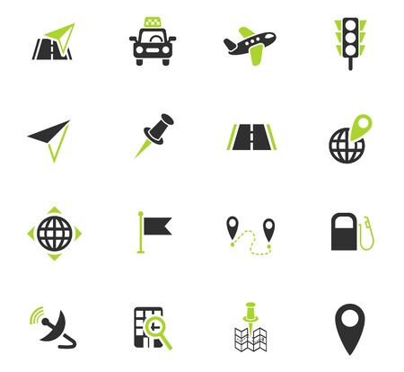 smart card: navigation ransport map web icons for user interface design Illustration