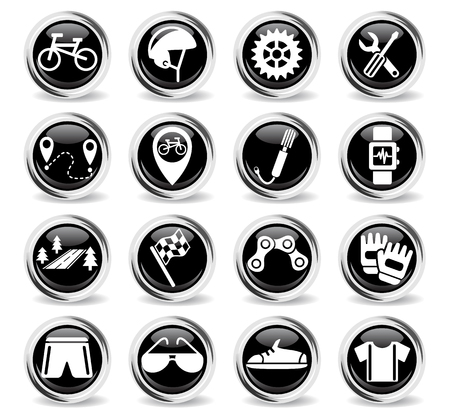 pump shoe: bicycle web icons for user interface design Illustration