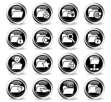 not open: folder web icons for user interface design Illustration